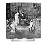 Silent Film Still: School Shower Curtain by Granger