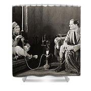 Silent Film Still: Smoking Shower Curtain