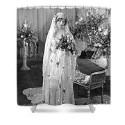 Silent Film: Wedding Shower Curtain