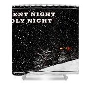 Silent Night Card Shower Curtain