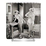 Silent Still: Bathroom Shower Curtain