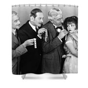 Silent Still: Bribery Shower Curtain