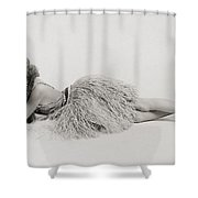 Silent Still: Dancer Shower Curtain