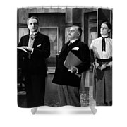 Silent Still: Offices Shower Curtain