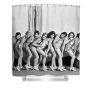 Silent Still: Showgirls Shower Curtain