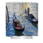 Silently Drifting Gondolas Shower Curtain
