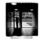 Silhouette Of A Man Shower Curtain