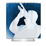 Silhouette Trumpet Shower Curtain