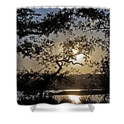 Silky Sunset Shower Curtain