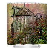 Silo In Overgrowth Shower Curtain
