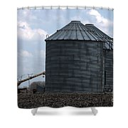 Silos And Augers Shower Curtain