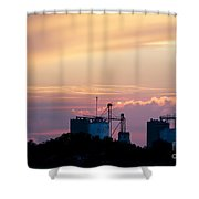 Silos At Dusk Shower Curtain