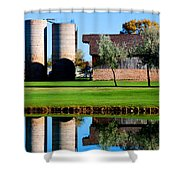 Silos On The Green Shower Curtain