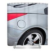 Silver 350z Nissan Shower Curtain