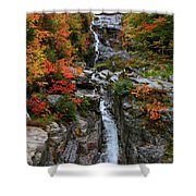 Silver Cascades Surrounded By Colors Shower Curtain