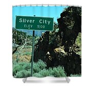 Silver City Nevada Shower Curtain