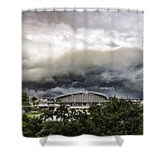 Silver Clouds V2 Shower Curtain