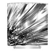 Silver Explosion Shower Curtain