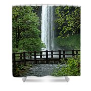 Silver Falls 2 In Oregon Shower Curtain