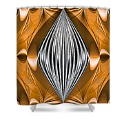 Silver Marquise Engagement Shower Curtain