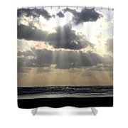 Silver Rays Shower Curtain