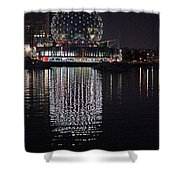 Silver Reflections Shower Curtain