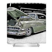 Silver Street Rod Hdr Shower Curtain