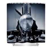 Silver Strikefighter Shower Curtain