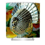 Silver Turkey Right Shower Curtain