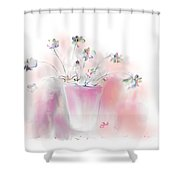 Simple Spring Flowers Shower Curtain