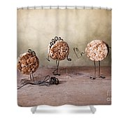 Simple Things 07 Shower Curtain by Nailia Schwarz