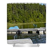 Simple Waterslide On Portage Lake Shower Curtain