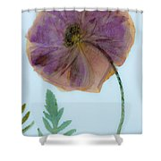 Simply Poppy  Shower Curtain