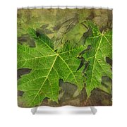 Simply Summer Maple Leaves Shower Curtain