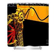 Sine Wave Machine Landscape 1 Shower Curtain