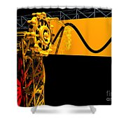 Sine Wave Machine Landscape 2 Shower Curtain