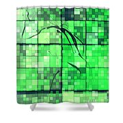 Sinful Geometric Green Shower Curtain