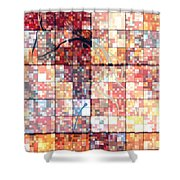 Sinful Geometric Red Shower Curtain