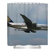 Singapore Airlines Airbus A380 Shower Curtain