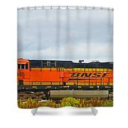 Single Bnsf Engine Shower Curtain