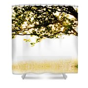 Single Tree In Motion Shower Curtain
