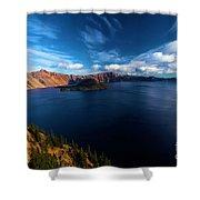 Sinott Crater Lake View Shower Curtain