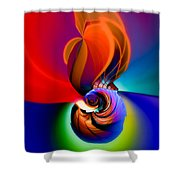 Siphonophoric Colony Shower Curtain