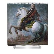 Sir Jeffrey Amherst Shower Curtain by Sir Joshua Reynolds