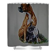 Sister Story Shower Curtain by Susan Herber