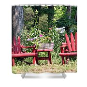 Sit For Awhile Shower Curtain