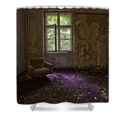 Sitting Alone Shower Curtain by Nathan Wright