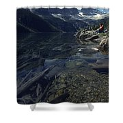 Sitting Along The Sheep River Shower Curtain