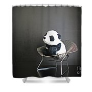 Sitting Meditation. Floyd From Travelling Pandas Series. Shower Curtain