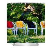 Six Summer Chairs Shower Curtain